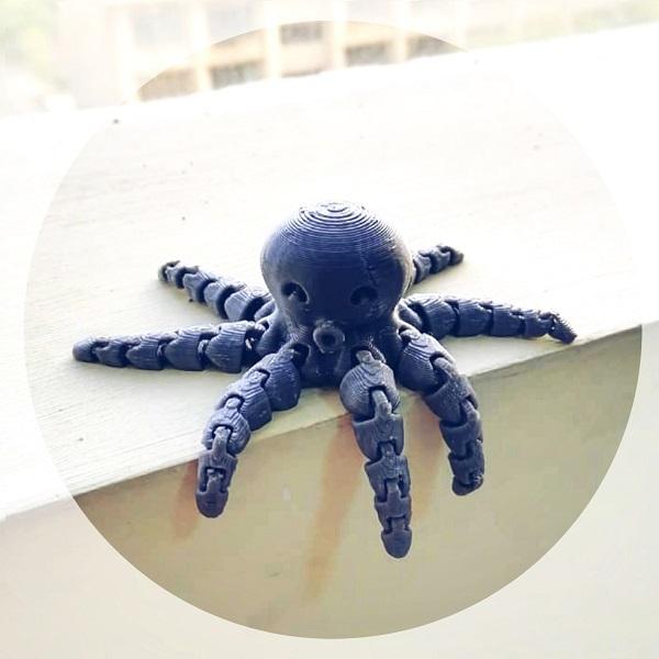 فایل آماده پرینت سه بعدی | عروسک هشتپا دکوری پرینت سه بعدی | سفارش در رنگ های مختلف