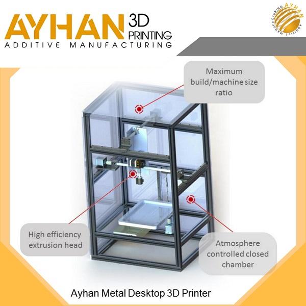 پرینتر سه بعدی فلزی آیهان | چاپ سه بعدی فلز | metal 3d printer